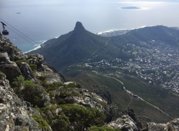Devil's Peak from a descending Table Mountain Cable Car.