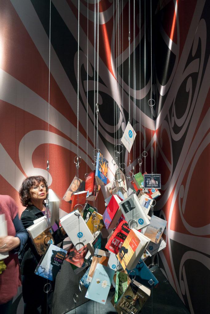 Messestand des Ehrengastes Neuseeland von Uniplan auf der Buchmesse Frankfurt 2012